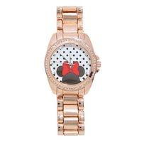 Minne Mouse: Crystal & Rose Gold - Coloured Bracelet Watch