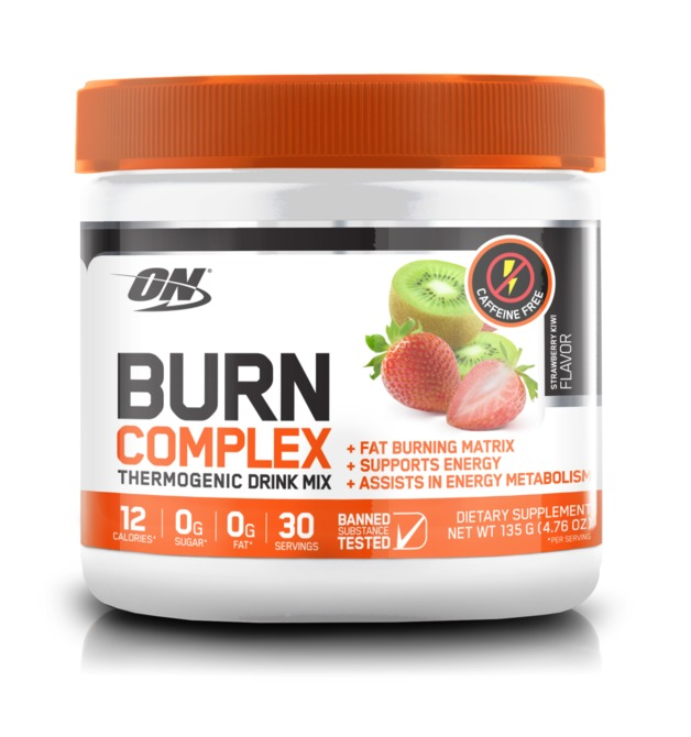 Optimum Nutrition: Burn Complex Non-Stimulant Thermogenic Drink Mix - Kiwi Strawberry (30 Serves)