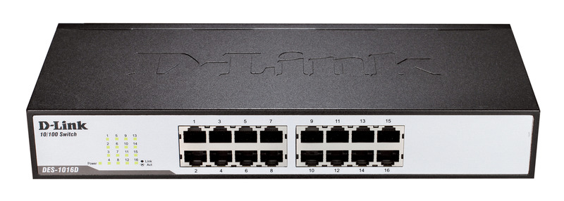 D-Link DES-1016D, 16 PORT 10/100 DESKTOP SWITCH image