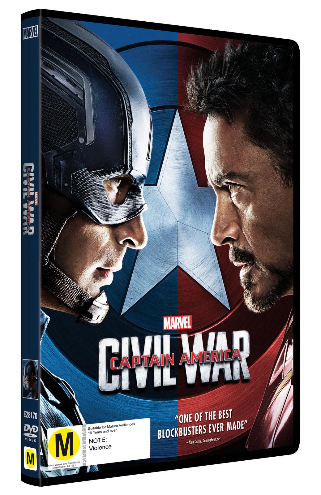 Captain America: Civil War on DVD image