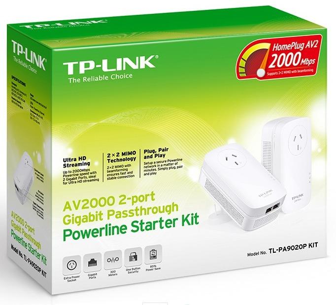 TP-Link AV2000 2-Port Gigabit Passthrough Powerline Starter Kit image