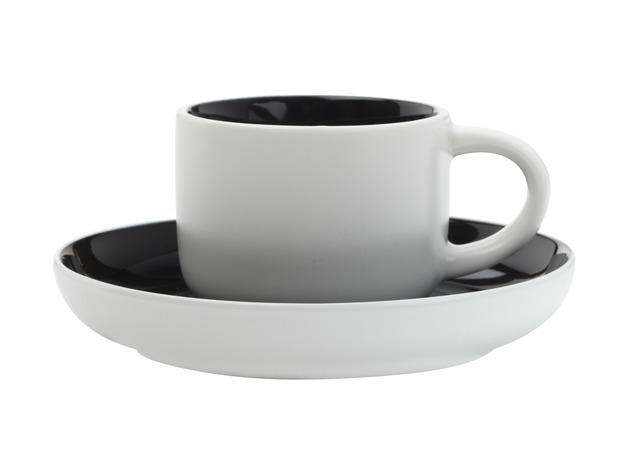 Maxwell & Williams - Tint Demi Cup & Saucer Black (100ml)