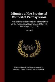 Minutes of the Provincial Council of Pennsylvania image