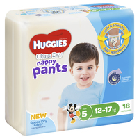 Huggies Ultra Dry Nappy Pants - Walker Boy 12-17 kg (18)