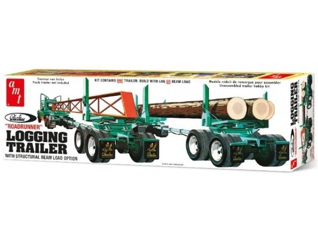 AMT: 1/25 Peerless Logging Trailer - Model Kit