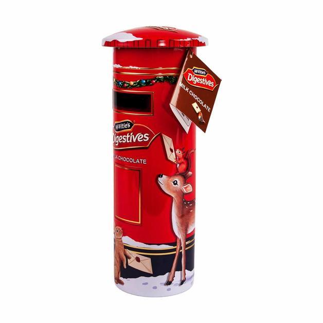 Mcvities Milk Chocolate Digestive Post Box Tin (400g)