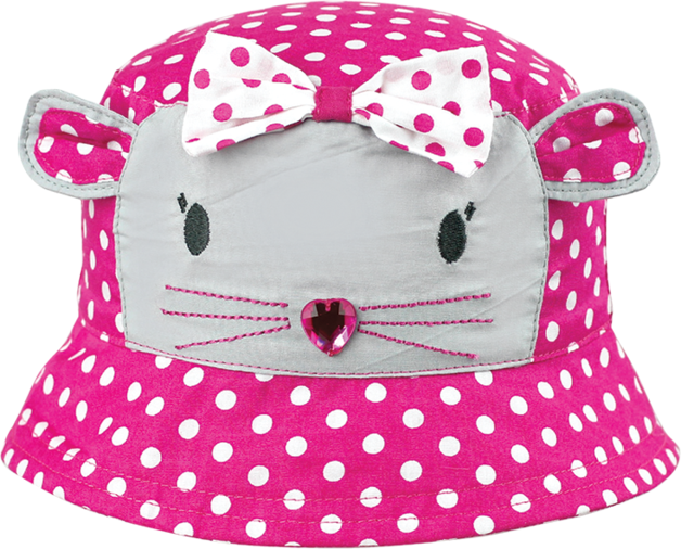Black Ice: Polka Cat Bucket Cap - (2-4 Years)
