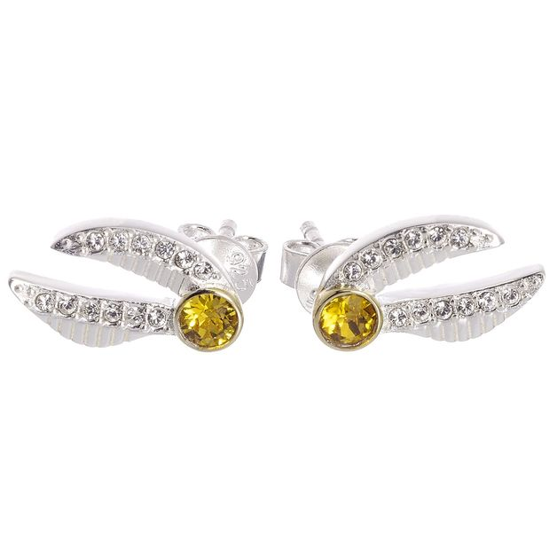 The Carat Shop: Harry Potter Embellished With Swarovski® Crystals Golden Snitch Earrings