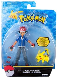 Pokémon: Action Pose Ash & Pikachu - Figure 2-Pack