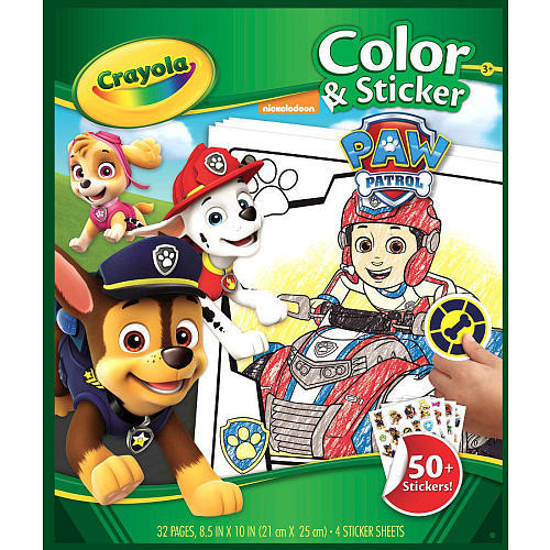Crayola: Color & Sticker Book - Paw Patrol image