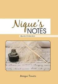 Nique's Notes by Monique Trowers image