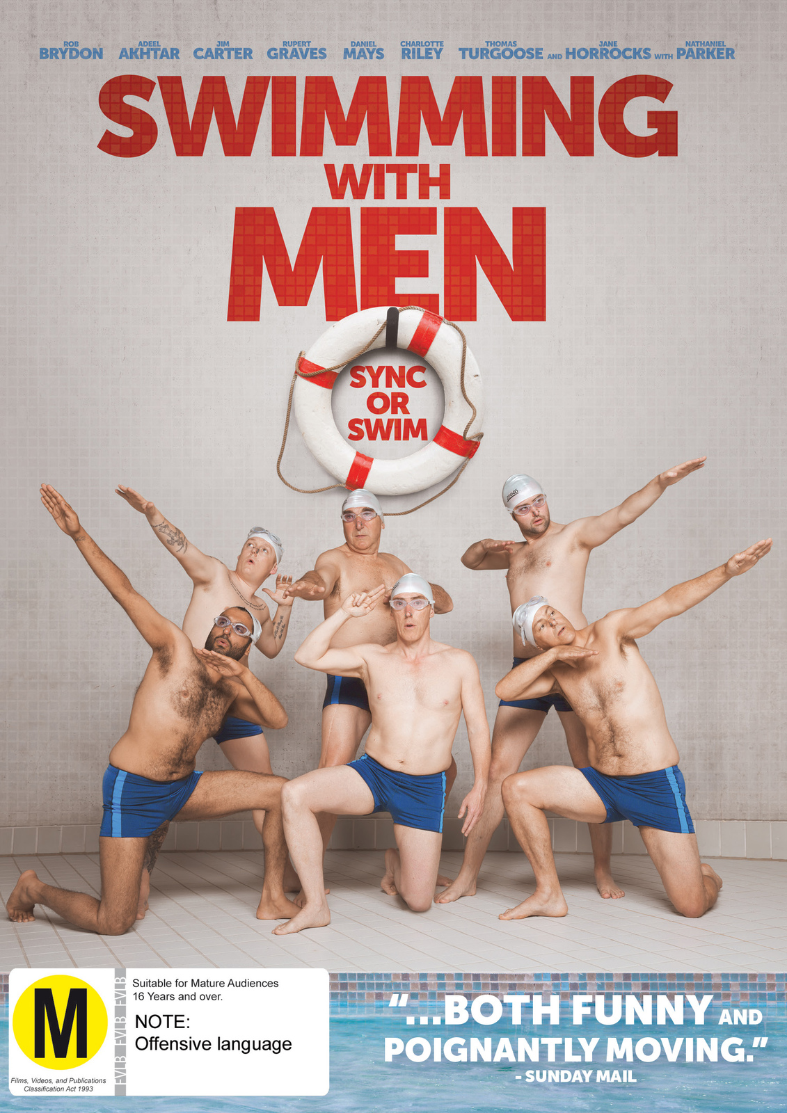 Swimming With Men on DVD image