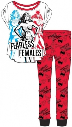 DC: Justice League Fearless Females Pyjama Set - 12-14