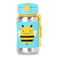 Skip Hop: Zoo Stainless Steel Straw Bottle - Bee