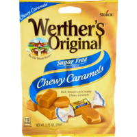 Storck Werther's Vanilla Chewy Caramel Sugar Free 78g image