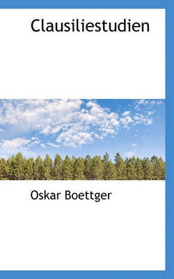 Clausiliestudien by Oskar Boettger image