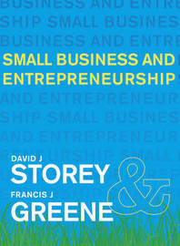 Small Business and Entrepreneurship by David J. Storey image
