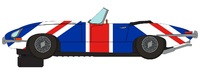 Scalextric: DPR Jaguar E Type Union Jack - Slot Car