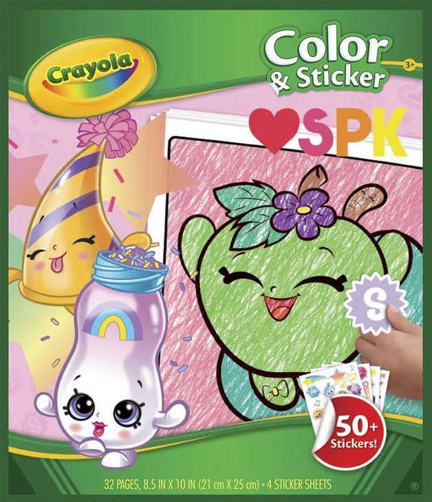 Crayola: Colour & Sticker Book – Shopkins
