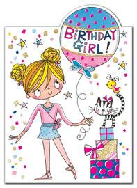Rachel Ellen: Little Ballerina Birthday Girl Card