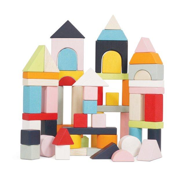 Le Toy Van - Building Blocks & Cotton Bag (60-pc)