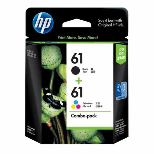 HP 61 Black + Tri-Colour Ink Cartridge Combo Pack