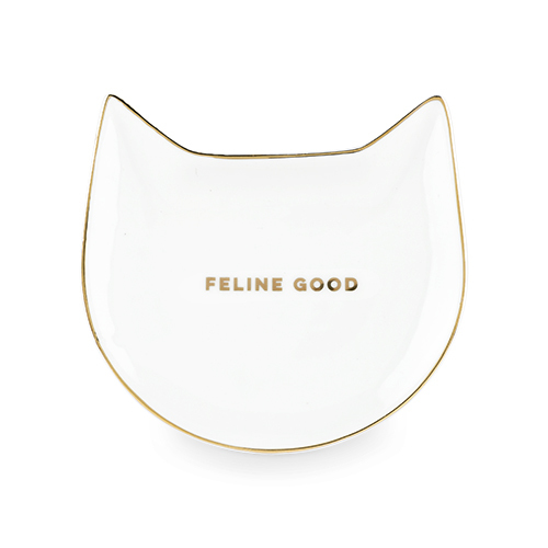Pinky Up: Feline Good - White Cat Tea Bag Tray image