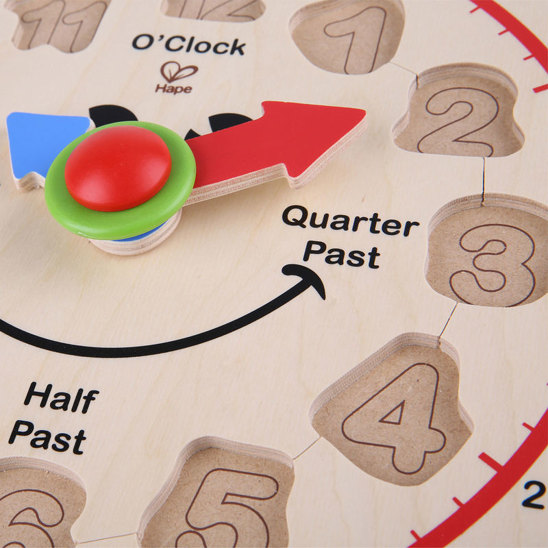 Hape: Happy Hour Wooden Clock image