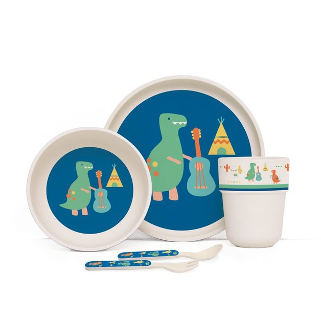 Penny Scallan: Dino Rock Bamboo Meal Set with Cutlery