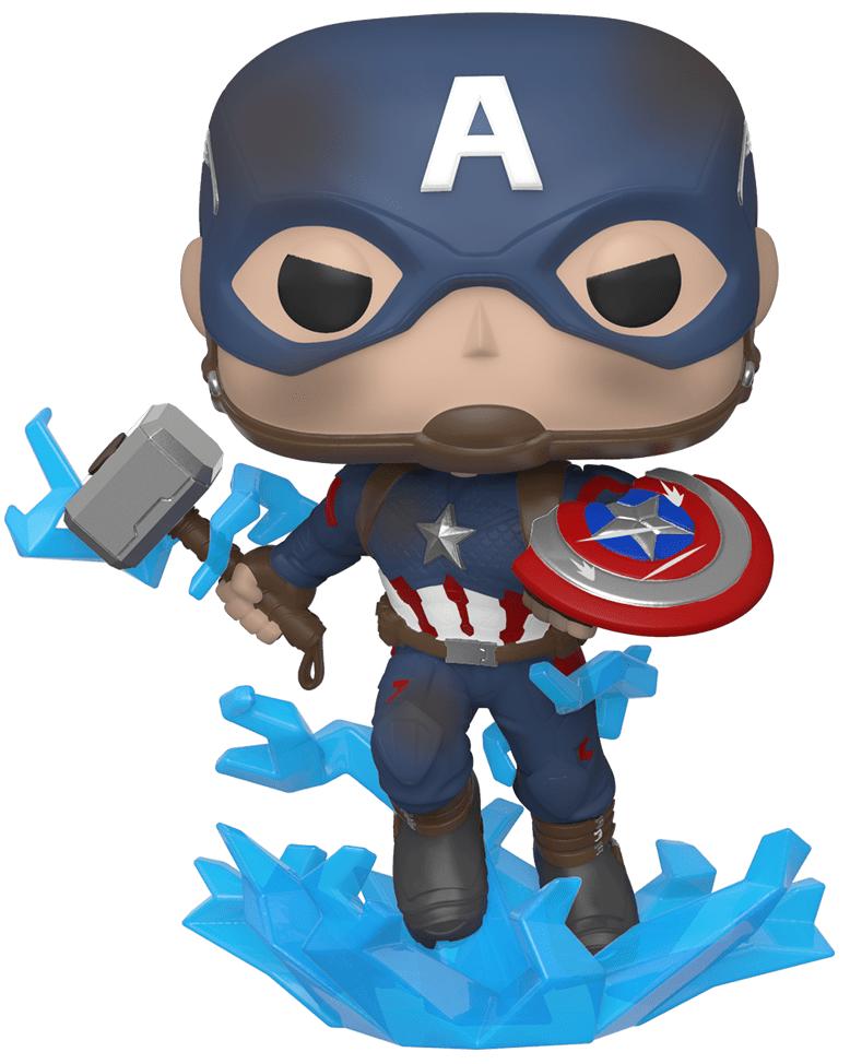 Avengers: Endgame - Captain America (with Mjolnir) Pop! Vinyl Figure image