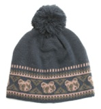 Hi-Hop Aztec Bear Beanie (Navy) - Small