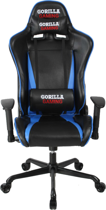 Gorilla Gaming Commander Chair - Blue & Black for