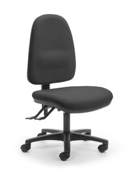CS Alpha 2 Lever High Back Task Chair - Black