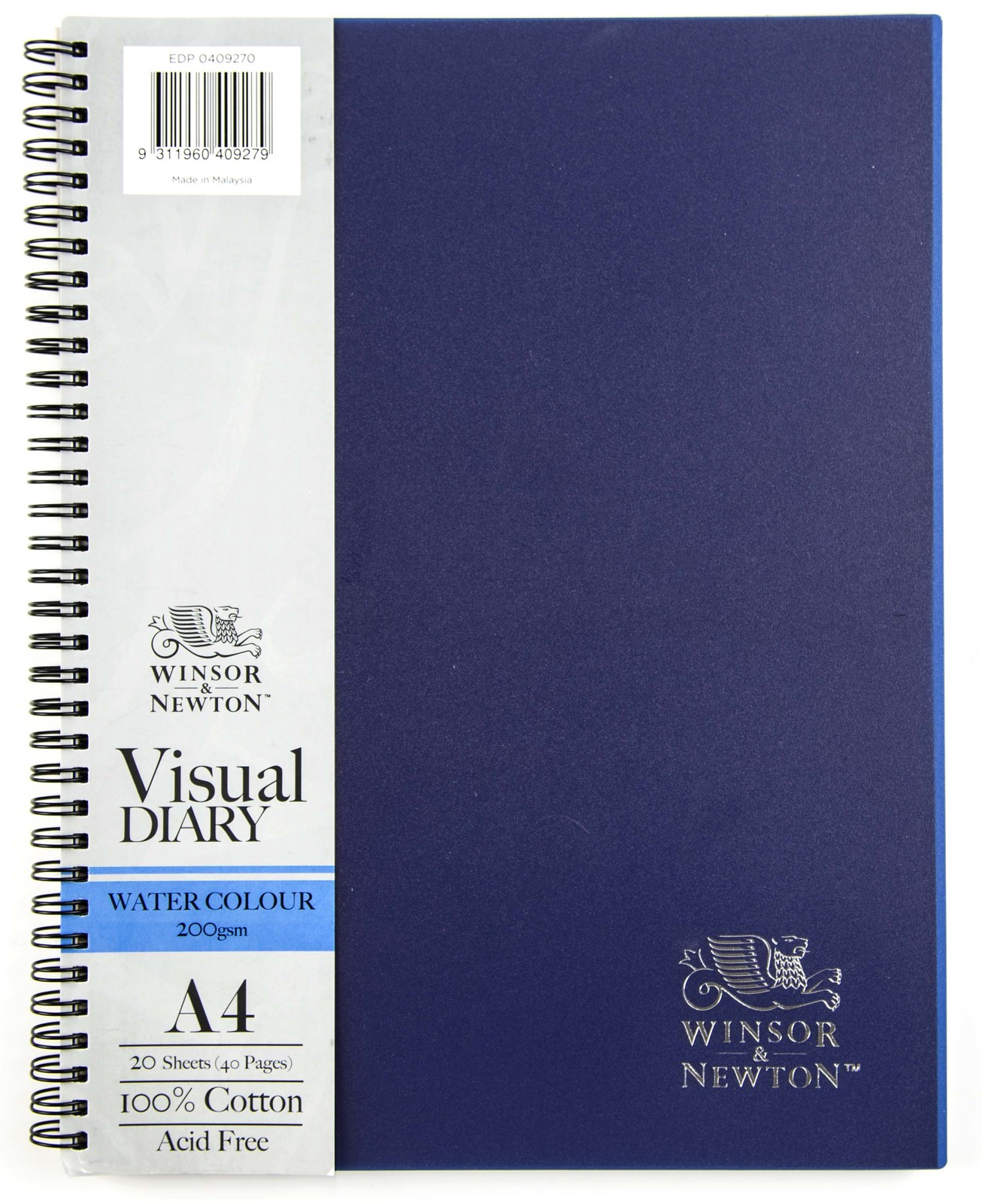 Winsor & Newton Watercolour Diary 200gsm Wiro (A4) image