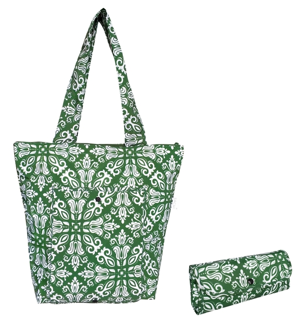 Sachi: Insulated Market Tote - Bohemian Green