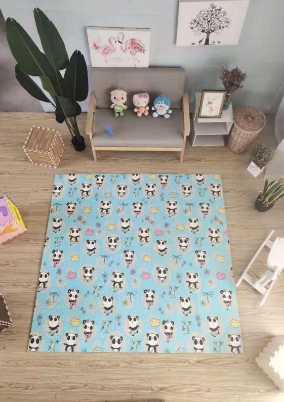 Reversible Folding Baby Mat - Panda - 1.8m
