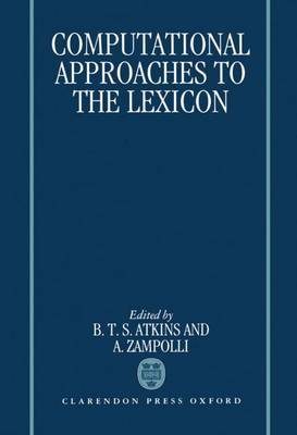 Computational Approaches to the Lexicon