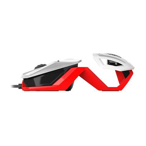 Mad Catz RAT 1 Gaming Mouse (White and Red) for PC Games image