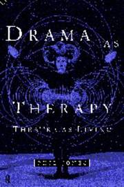 Drama as Therapy Volume 1 by Phil Jones image