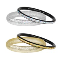 Pink Poppy: Glitter Bangle - (Assorted Designs)