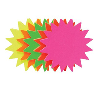 Fluro Stars 105mm - Pack of 25 (Assorted Colours)