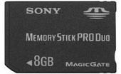 Sony MSXM8GSX Memory Stick PRO Duo 8GB. MSACM2 standard Memory Stick adaptor included.