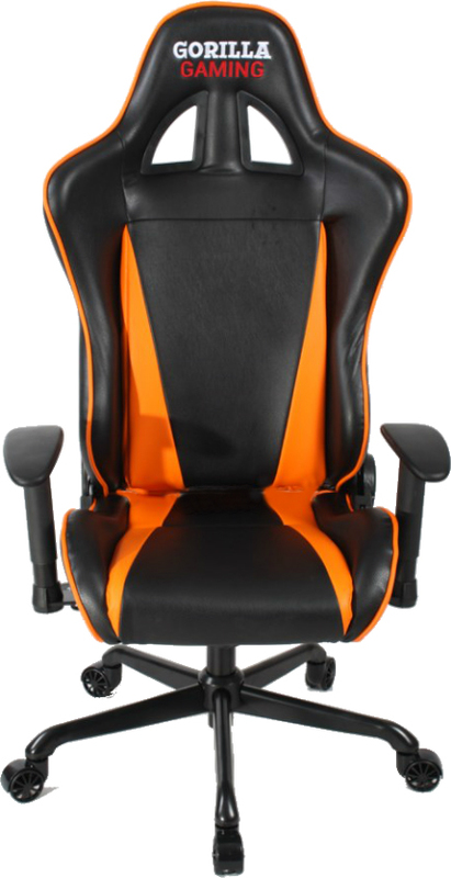 Gorilla Gaming Commander Chair - Orange & Black for