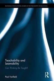 Teachability and Learnability by Paul Fairfield
