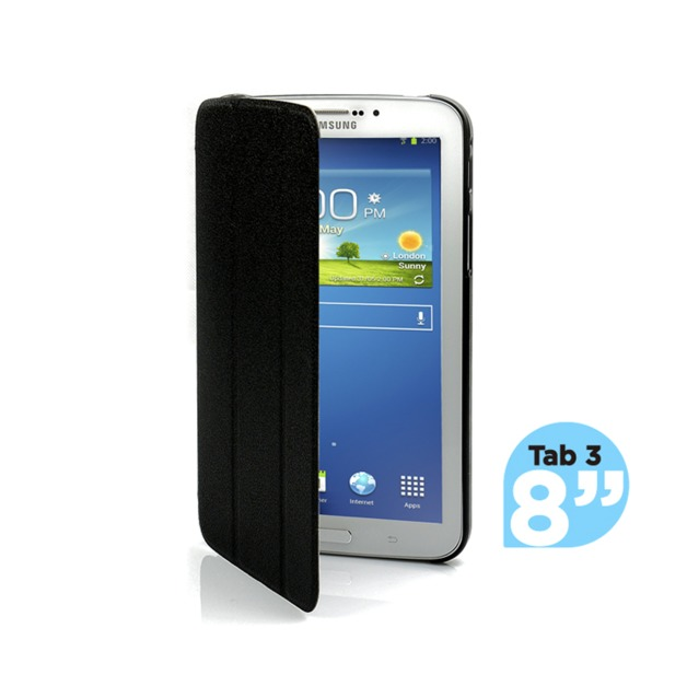 mbeat Samsung Galaxy Tab 3, 8 inch Ultra Slim Triple Fold Case Cover - Black