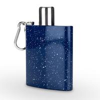Foster & Rye: Enamel Carabiner Flask - Blue
