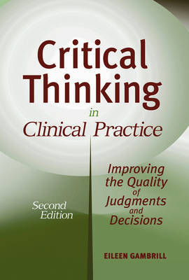 Critical Thinking in Clinical Practice by Eileen D Gambrill image