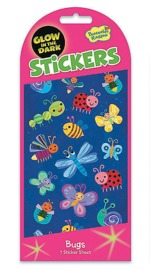 Peaceable Kingdom: Glow in the Dark Stickers - Cute Bugs image