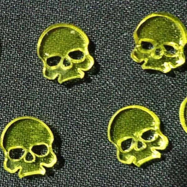 TTCombat: Skull Tokens - Yellow (Translucent)