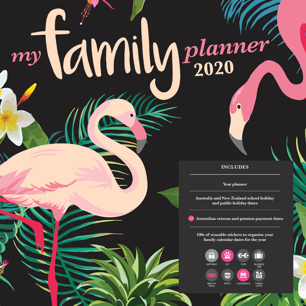 My Family Planner 2020 Square Wall Calendar